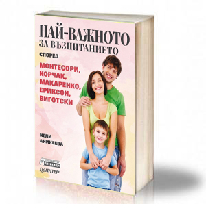 Book Cover: Най-важното за възпитанието според Монтесори, Корчак, Макаренко, Ериксон, Виготски – Нели Аникеева